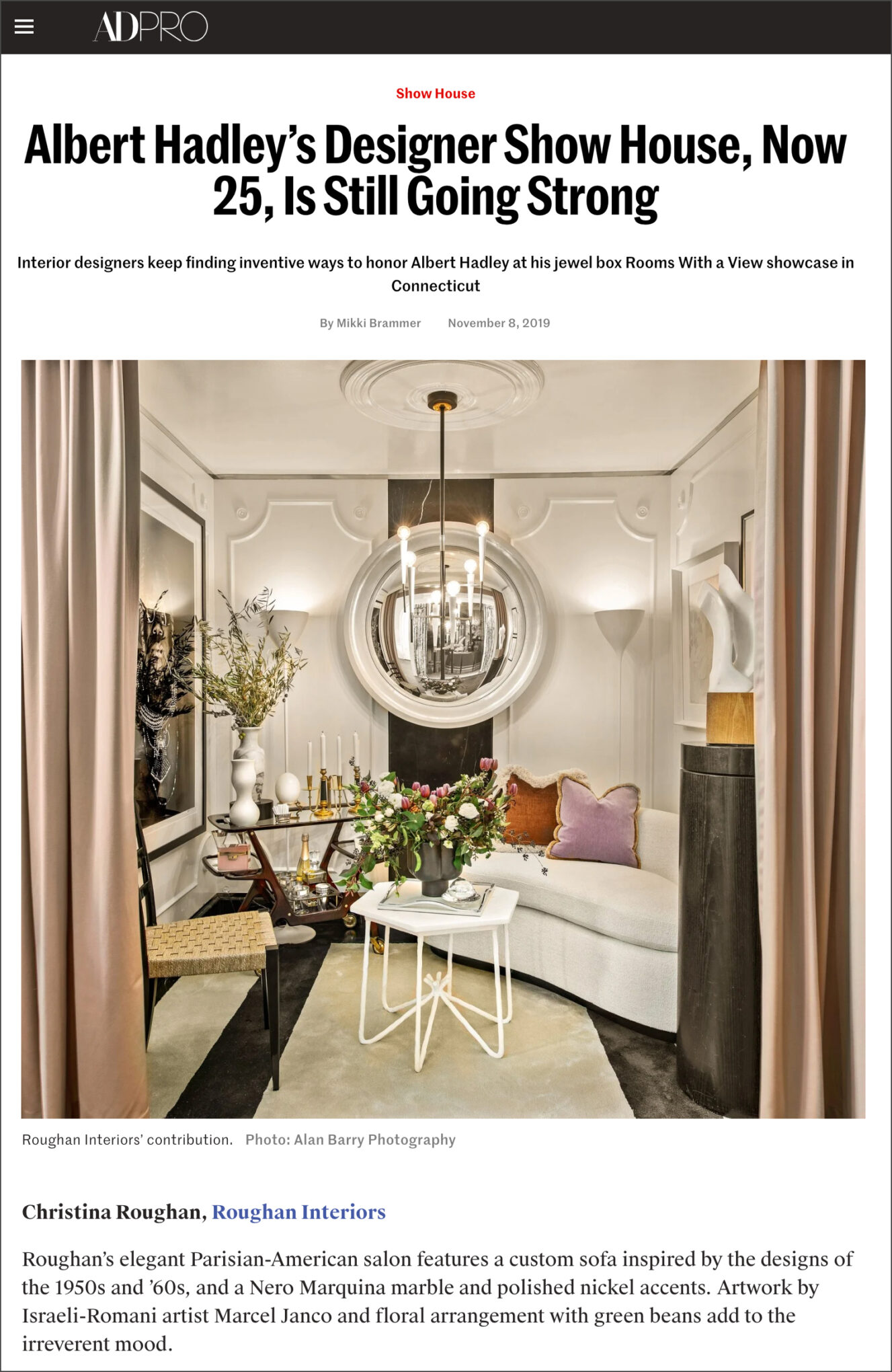 Architectural Digest Article Clipping