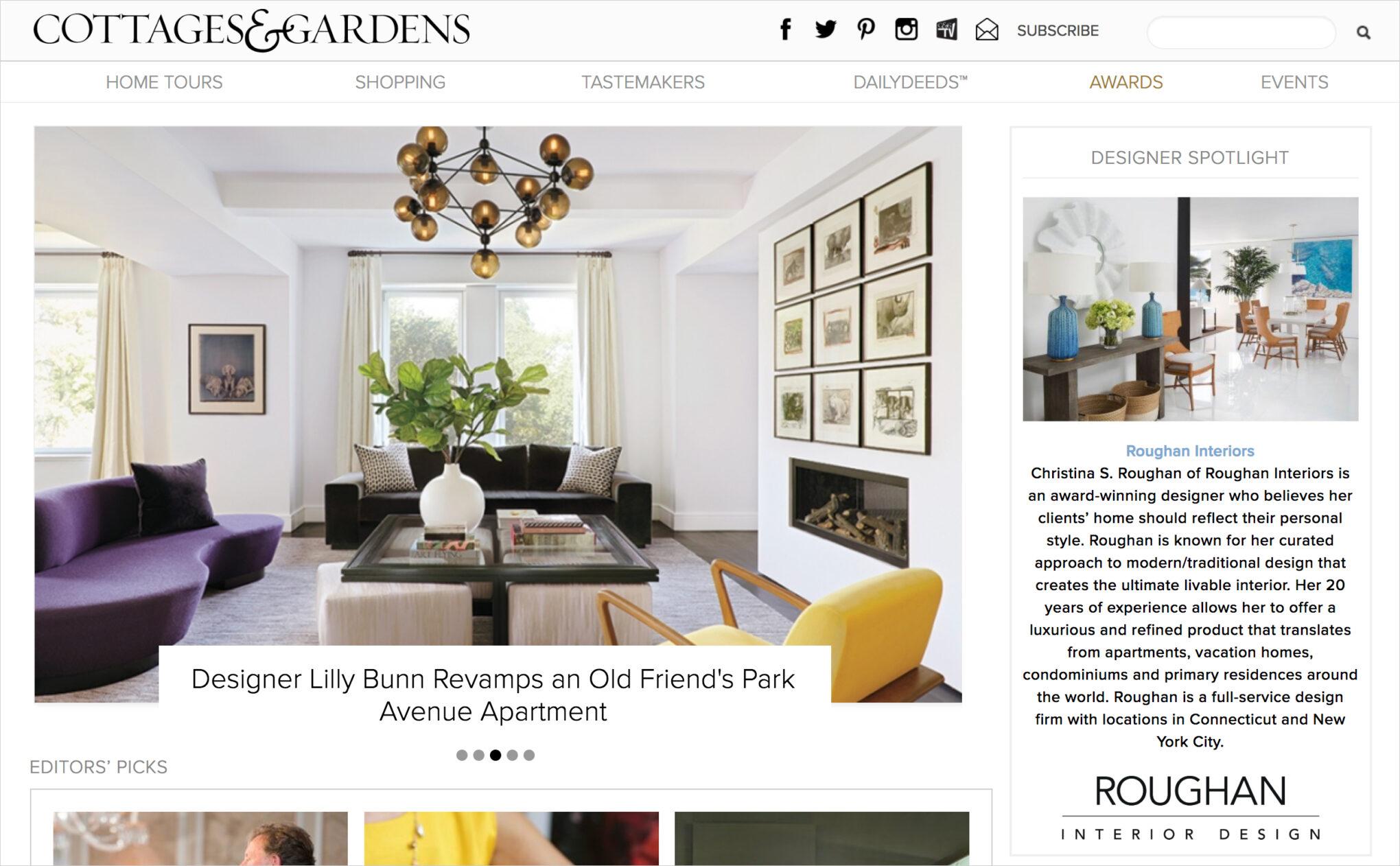 baf212d976d6 Designer Spotlight for Cottages and Gardens - Roughan Interiors