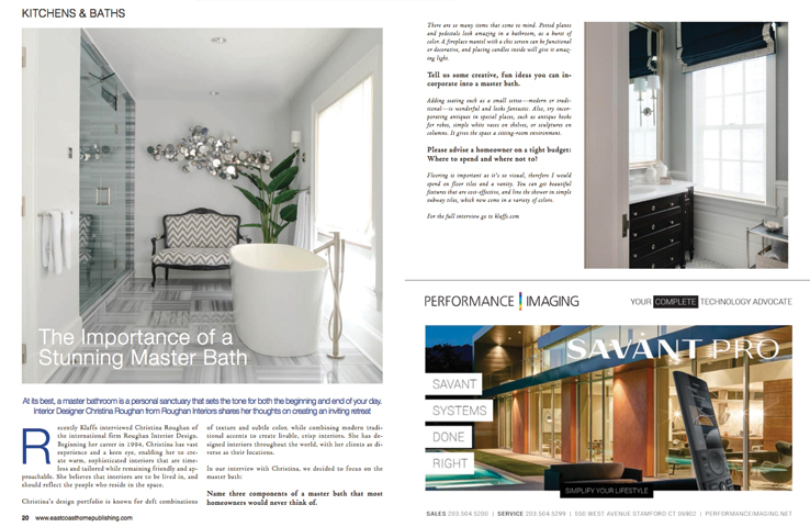 East Coast Home Design November 2016 Featured Magazine Article
