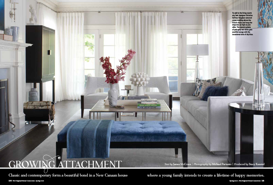 Roughan Interiors Featured Article In New England Home Magazine